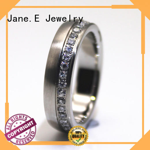 shiny stainless steel couple rings 316l steel top quality for weddings