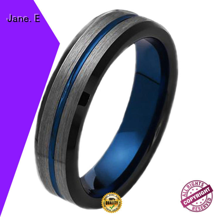 meteorite tungsten engagement rings exquisite for wedding JaneE