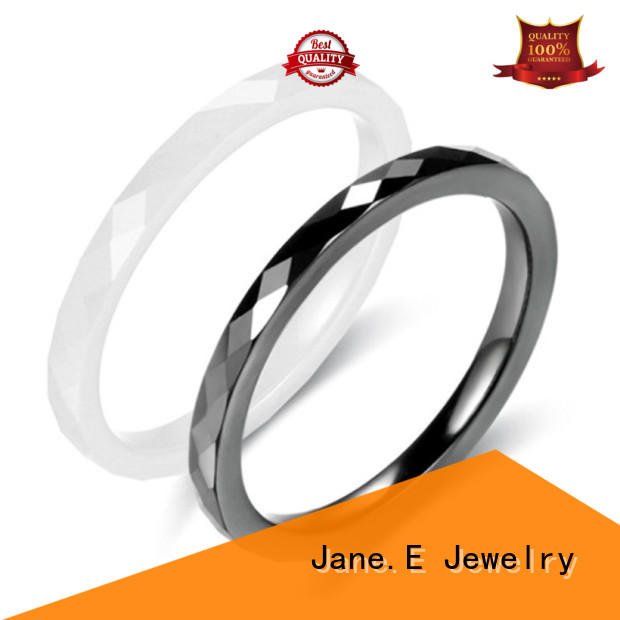 fully polished finish white ceramic ring hightech factory direct for inlay