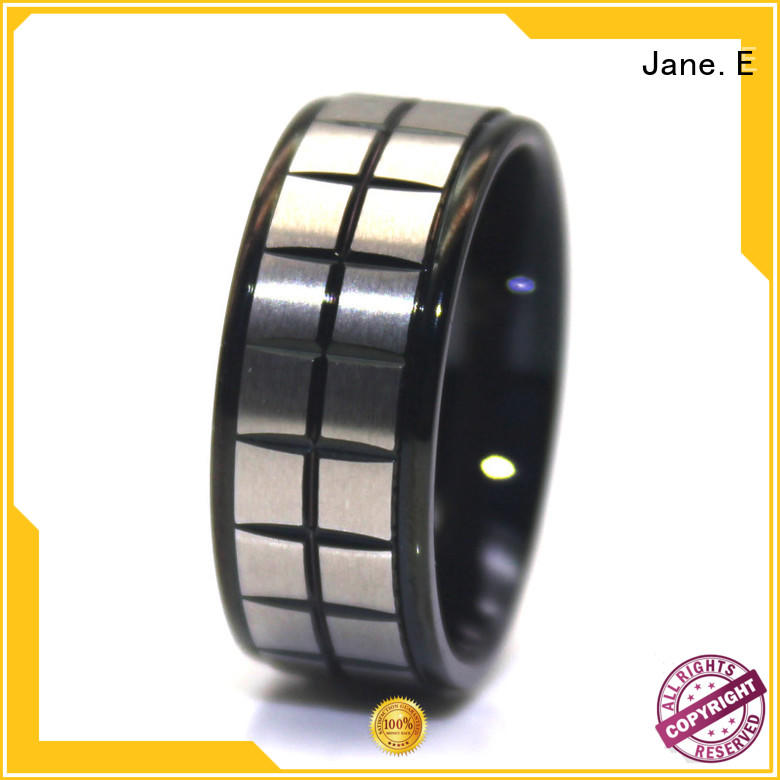 JaneE inlay surgical steel wedding rings multi colors for decoration