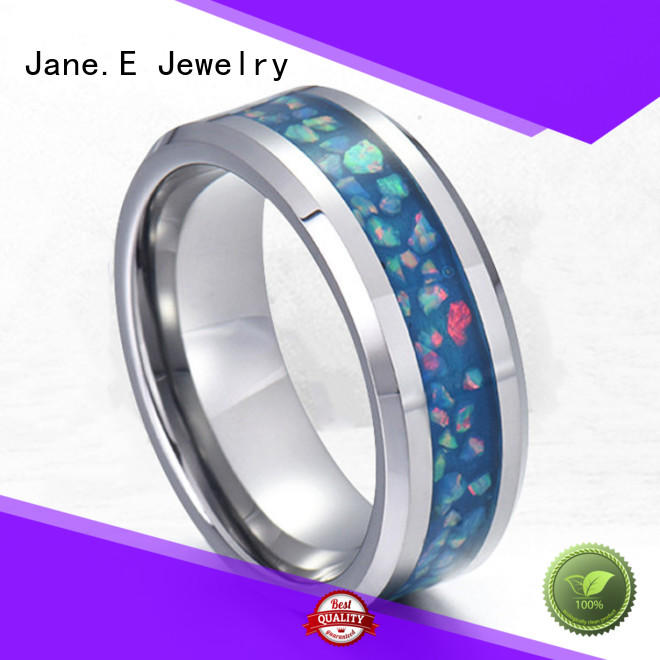JaneE factory direct ladies stainless steel rings comfortable for men