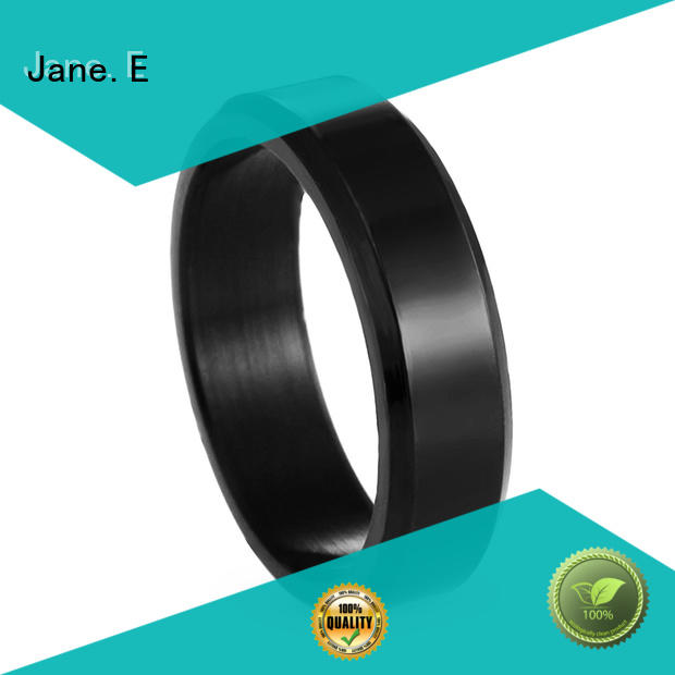 JaneE shiny stainless rings comfortable for weddings