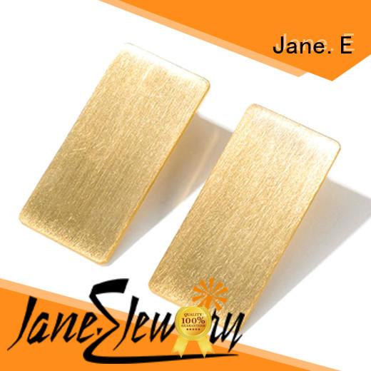 JaneE rainbow mens titanium hoop earrings classic style for girl