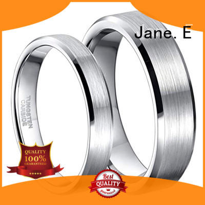 JaneE damascus texture tungsten band exquisite for engagement