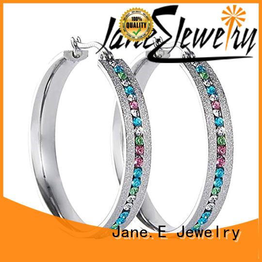 JaneE multi colors fashion earrings ODM for women