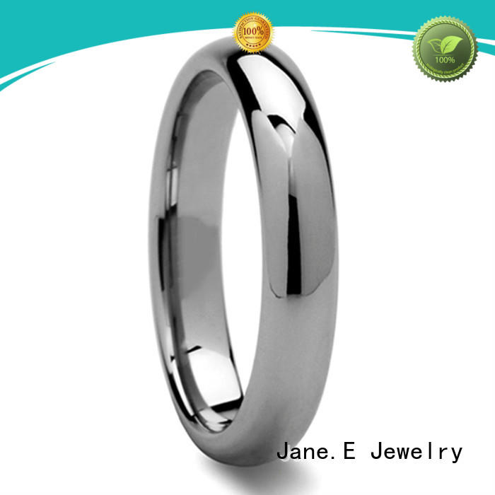 JaneE shiny polished tungsten carbide ring exquisite for gift