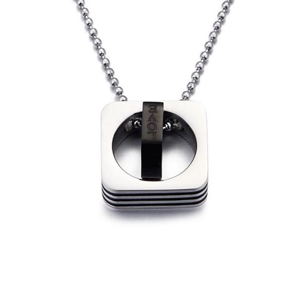 JaneE letter engraved black stainless steel necklace factory direct manufacturer-3