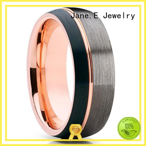 mens tungsten carbide wedding bands two tones for engagement JaneE