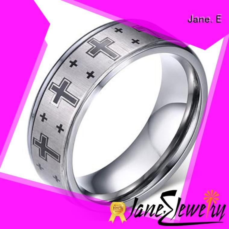 JaneE unique design matching tungsten wedding bands matt for wedding