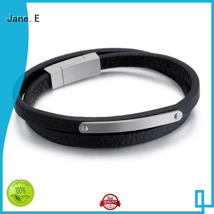 JaneE manual polishing stainless steel bracelet wholesale for gifts