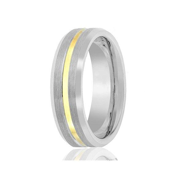 JaneE shiny polished tungsten ring matt for gift-2