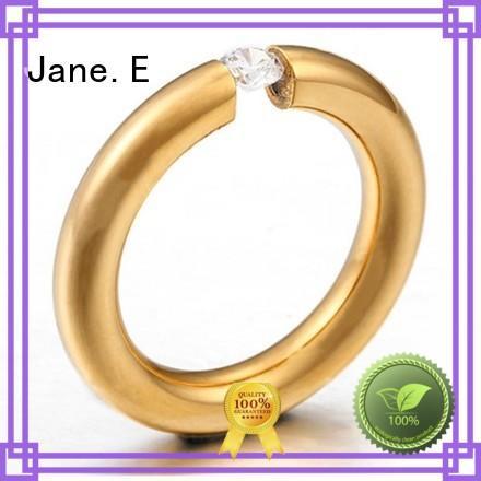 plating black stainless steel wedding rings rose gold for weddings JaneE