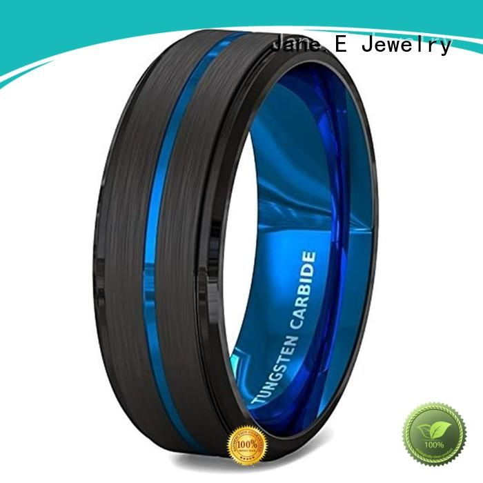 unique design mens wedding bands wood inlay red opal matt for gift