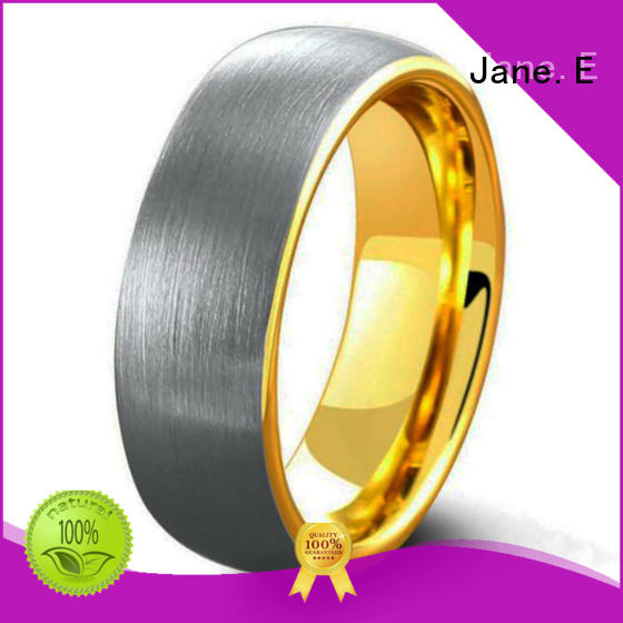 JaneE shiny polished tungsten ring price matt for gift