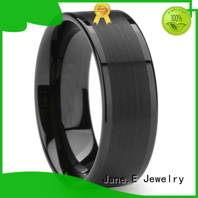unique design tungsten band rings engraved for wedding