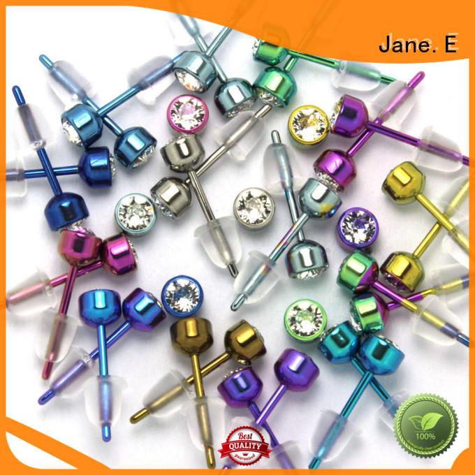 zirconia body titanium jewelry earrings hot selling for gift JaneE