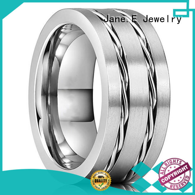 meteorite 6mm tungsten ring red opal for engagement JaneE