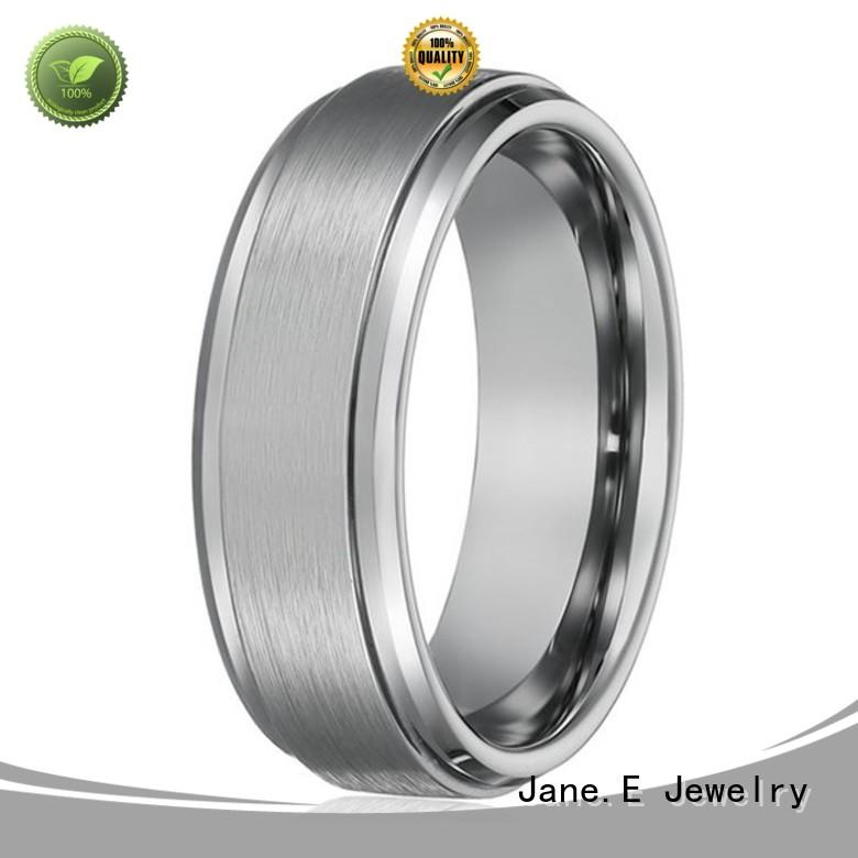 shiny polished unique tungsten wedding bands exquisite for engagement