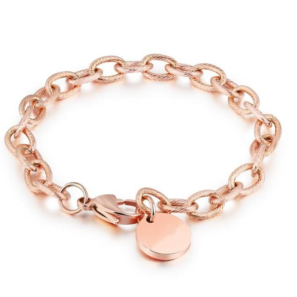 fashion bracelet stainless steel gold plated customized for hands wear-3