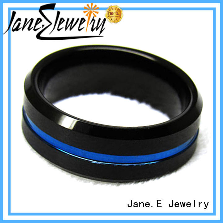 JaneE traditional tungsten wedding bands for her matt for engagement