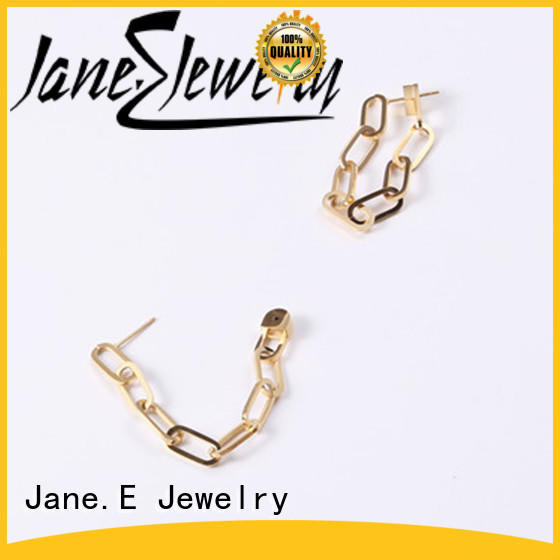 JaneE blanks no piercing earrings ODM for decoration