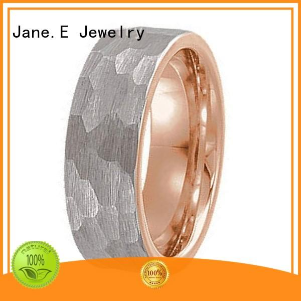 red opal tungsten carbide rings two tones for wedding JaneE