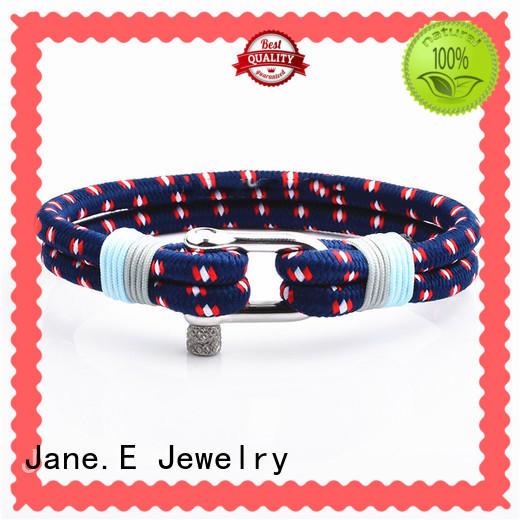polished finishedmen's rope bracelet cotton high qualityfor anniversary