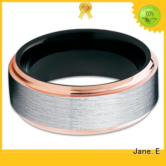 JaneE unique design tungsten carbide ring price exquisite for gift