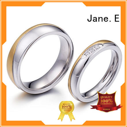 JaneE rose gold stainless steel ring blanks fashion design for weddings