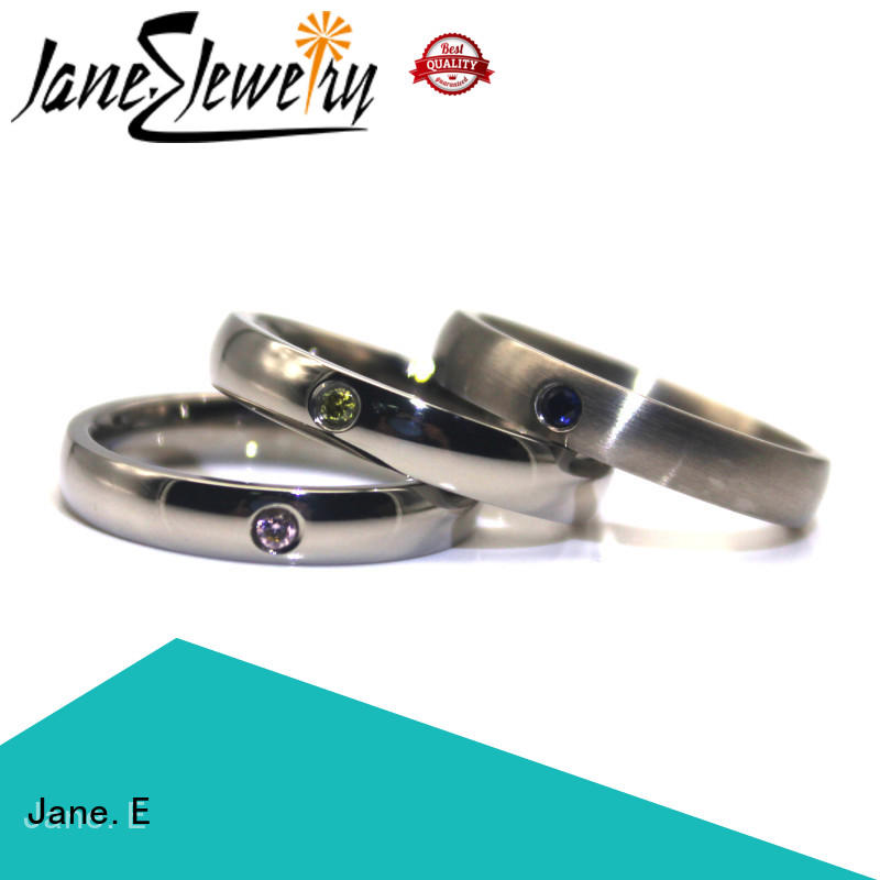 plating stainless rings multi colors for weddings JaneE