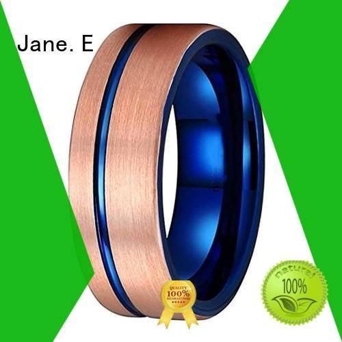 JaneE unique design tungsten carbide mens wedding ring matt for wedding