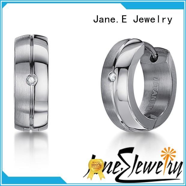 JaneE custom made simple earrings IP gold for girl