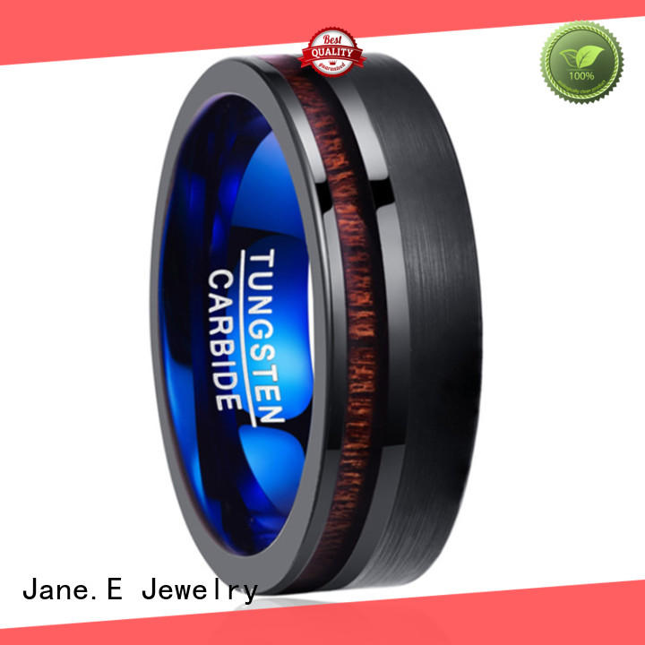 two tones custom black tungsten rings exquisite for engagement JaneE