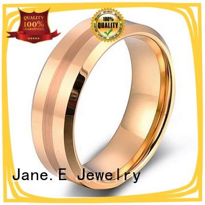 damascus texture rose gold tungsten ring exquisite for gift JaneE