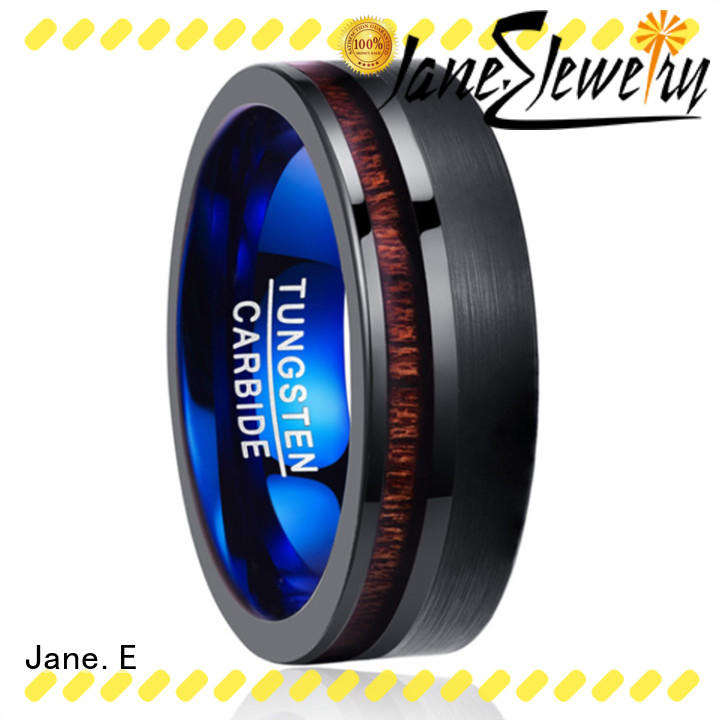 JaneE traditional womens tungsten wedding rings exquisite for engagement