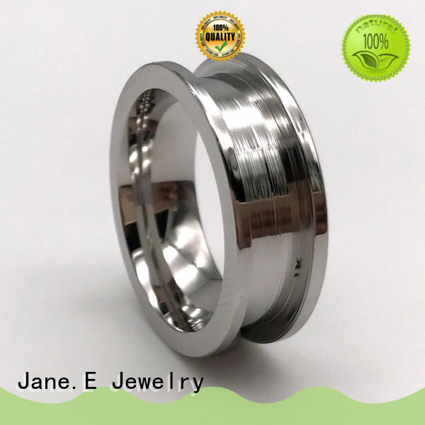 customized women's stainless steel wedding rings AAA CZ Stones multi colors for weddings