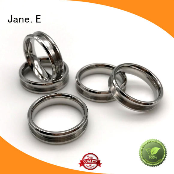 JaneE square edges women's stainless steel rings top quality for weddings