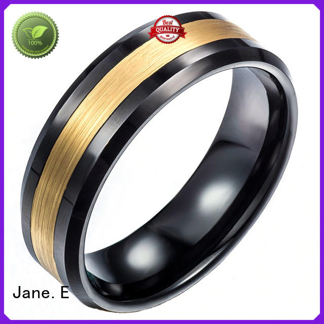 JaneE red opal wood tungsten ring exquisite for wedding