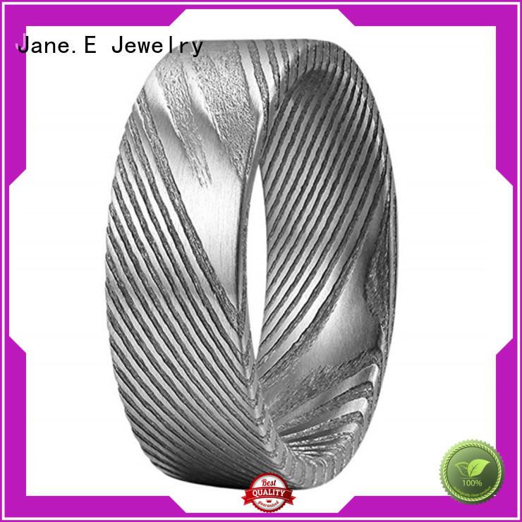 JaneE meteorite custom rings comfort fit for weddings