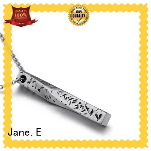 JaneE IP gold stainless steel engravable pendants beautiful for necklace