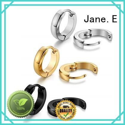 JaneE rose gold stainless steel earrings durable for women
