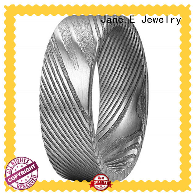 JaneE customized damascus steel ring blanks wholesale for inlay