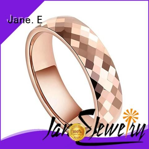 rose gold tungsten mens wedding band red opal for gift JaneE