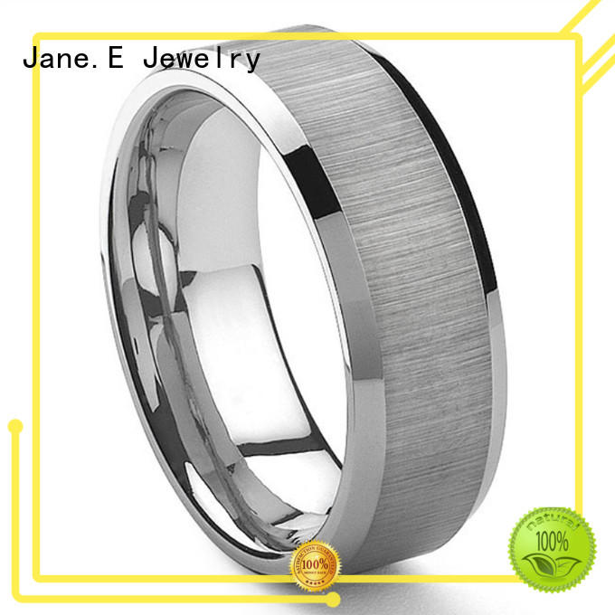 multi colors two tone tungsten wedding bands engraved for wedding JaneE