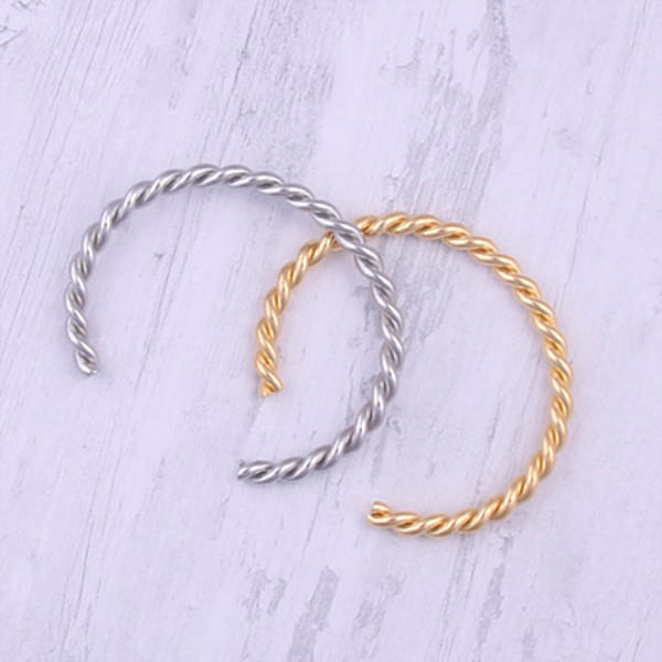 manual polishing stainless steel bracelet gold plated for gifts JaneE-3