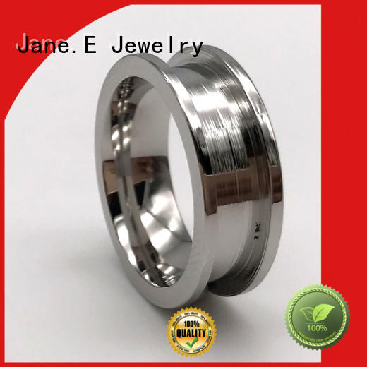 rose gold stainless steel ring blanks top quality for men JaneE