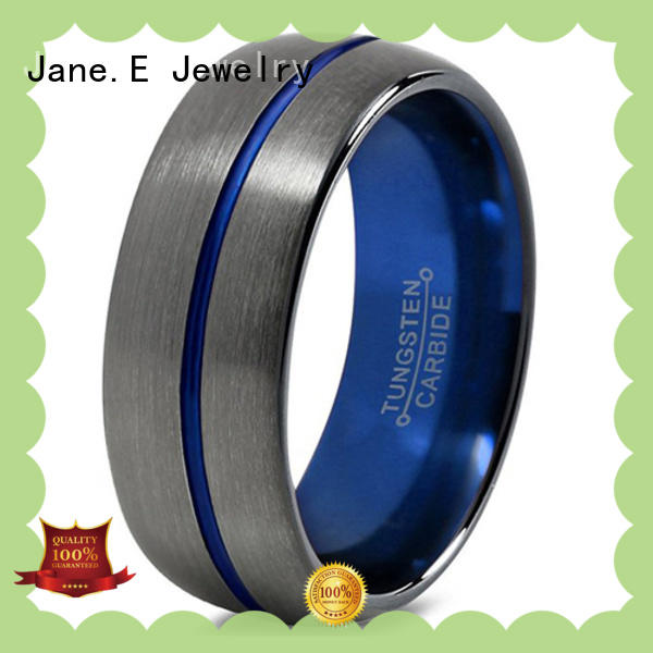 meteorite womens tungsten wedding rings red opal for engagement JaneE