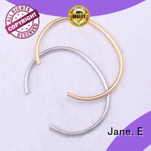 stainless steel love bangle with genuine leather strap for gift JaneE