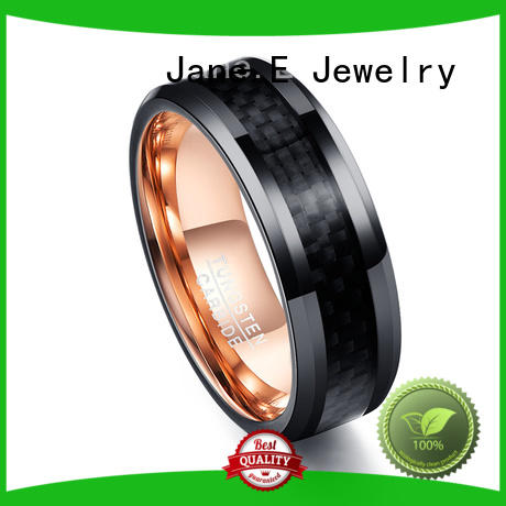 shiny polished tungsten carbide ring engraved for engagement