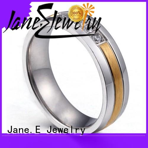 shiny steel ring AAA CZ Stones multi colors for men